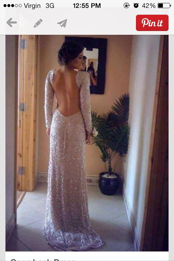 dress dress backless sparkly