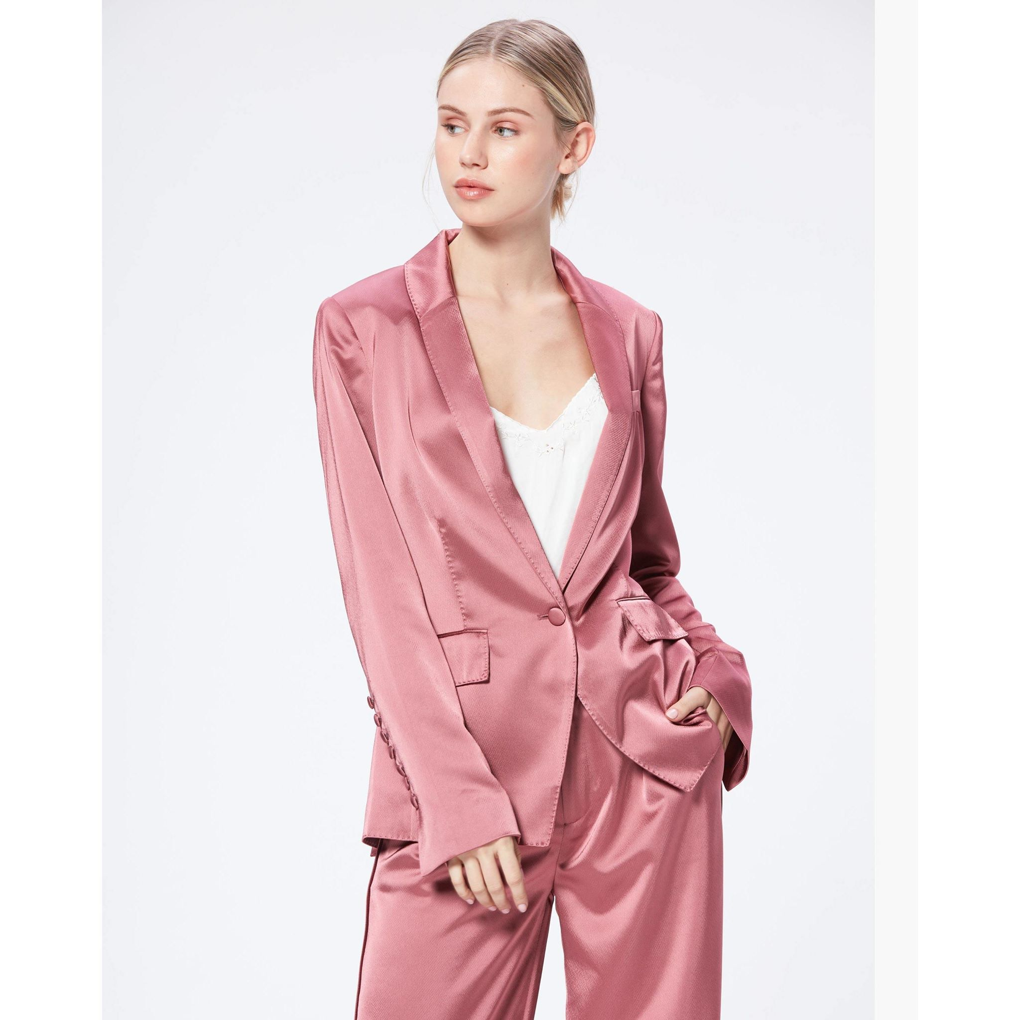 PAIGE Women's Samille Blazer Jacket - Deco Rose | Long Sleeves