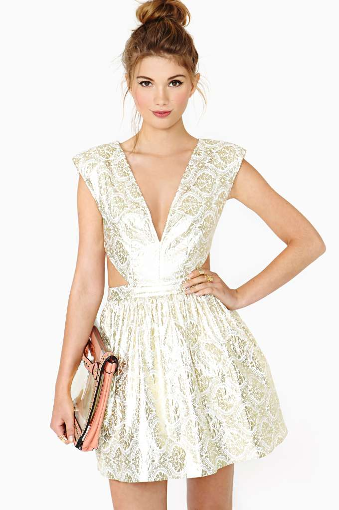 Contessa Brocade Dress in  Clothes at Nasty Gal
