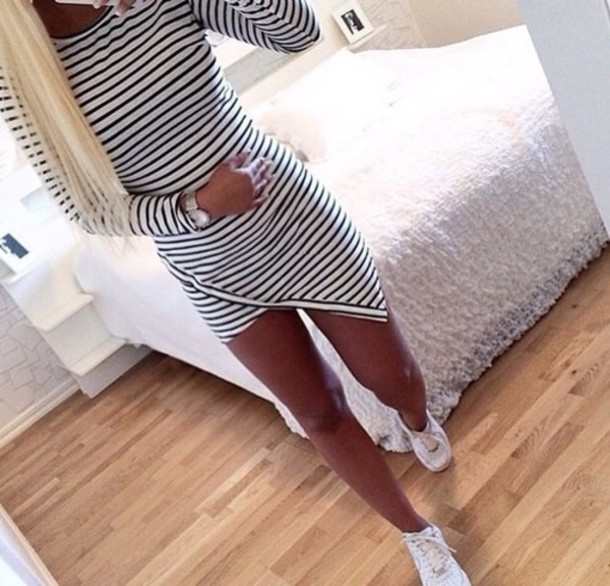 dress black and white