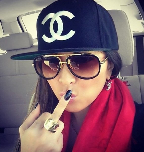 hat chanel swag girl wheretoget