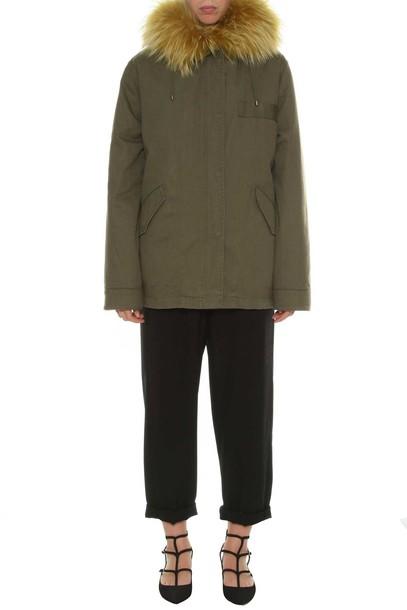Yves Salomon jacket fur jacket fur