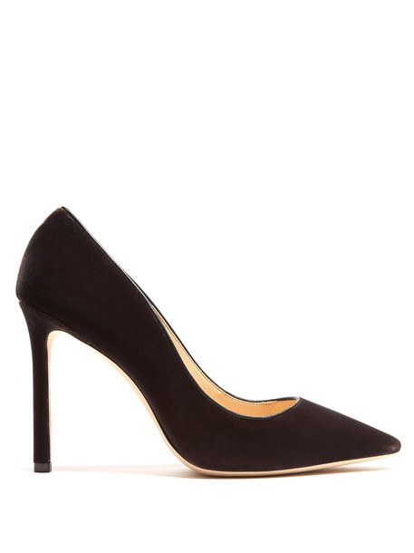 Jimmy Choo pumps velvet dark grey shoes