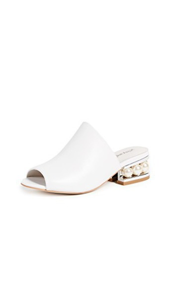 Jeffrey Campbell sandals silver white shoes