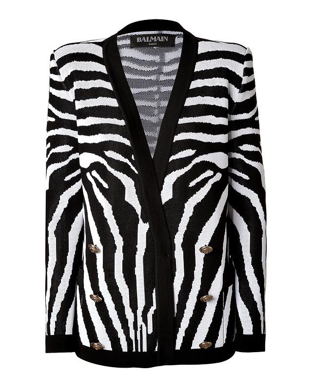 Balmain - Zebra Print Cardigan