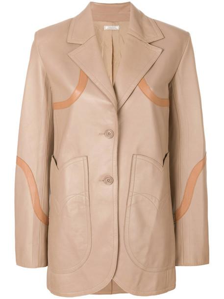 NINA RICCI jacket women leather nude