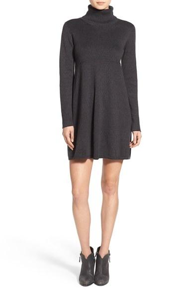 Hinge Turtleneck Sweater Dress