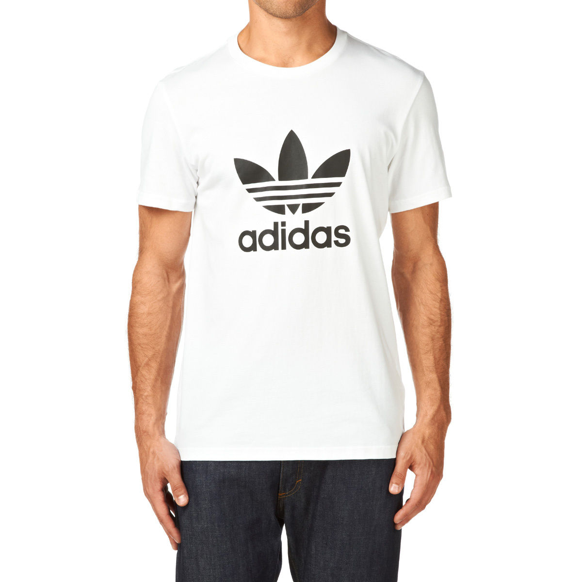 timeless design 2bc7b 16d40 adidas originals Adi Trefoil T-Shirt - White Black