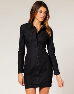 ASOS Western Denim Shirt Dress at asos.com