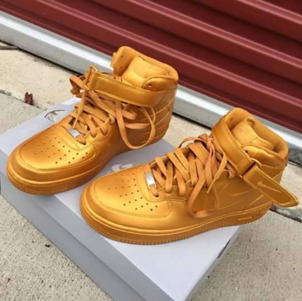 0c823bf882e0 shoes gold rich girl fancy fashion cute couple sneakers gold shoes nike  high top sneakers