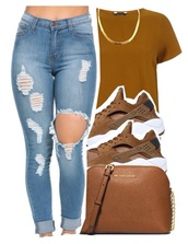 shoes,brown,suede sneakers,jeans,huarache,nike,ripped jeans