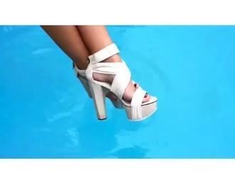 nude nude sandals sandals shoes high heels summer shoes wedges nude high heels chunky heels