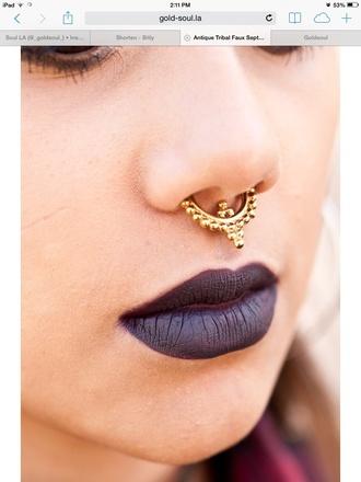 jewels nose ring septums fake septums