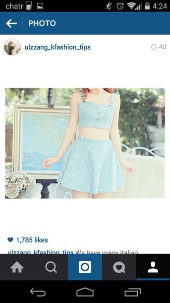 jumpsuit blue skirt blue top summer top summer skirt