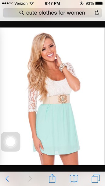 dress blue skirt lace top blue dress white dress belt