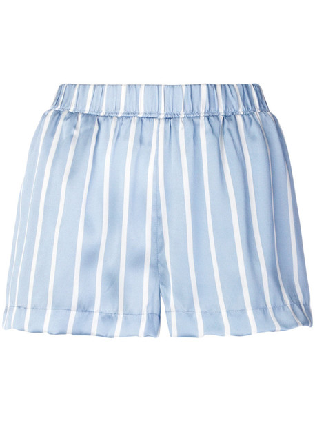 Asceno shorts pyjama shorts women blue silk