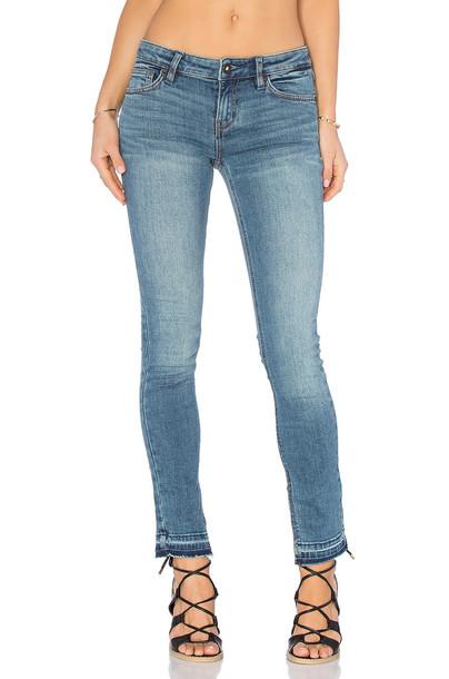 Free People jeans slit denim dark