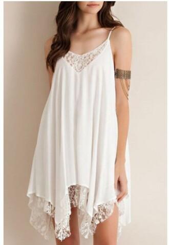 dress white summer spring white dress summer dress girly casual fashion style beautifulhalo