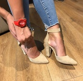 shoes,heels,heel,gold,cream,pointed toe pumps,pumps,style,cute,nice,party,elegant,classy,soft,swag,sweet,high heels,date outfit,jeans,denim,love,long,cream high heels,ice cream,beautiful,blue,light,strappy heels,streetstyle,streetwear,pointed toe,on point,nice outfit,comfy,heel boots,high,high heel pumps,midi