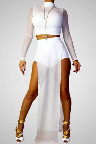 dress white mesh insert bodycon dress mesh bodysuit pool wear shoes romper