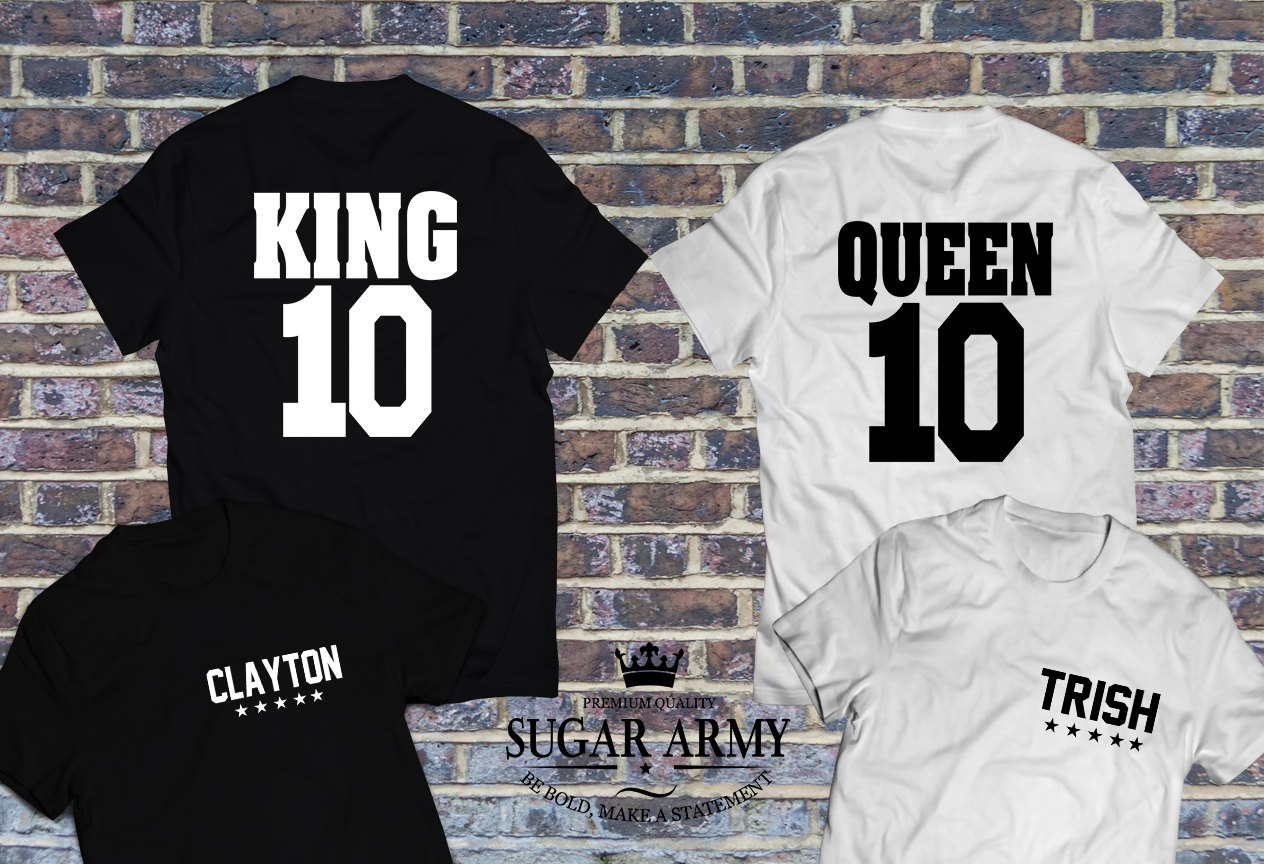 king and queen matching shirts cute couple shirts with. Black Bedroom Furniture Sets. Home Design Ideas