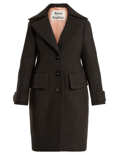 coat wool coat wool dark grey