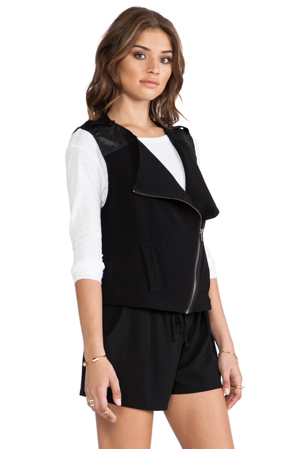 Sanctuary Soft City Vest in Black | REVOLVE