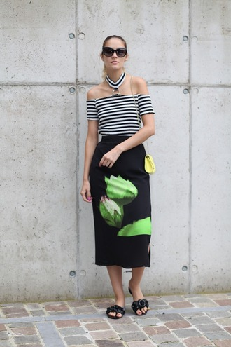 from brussels with love blogger skirt top bag