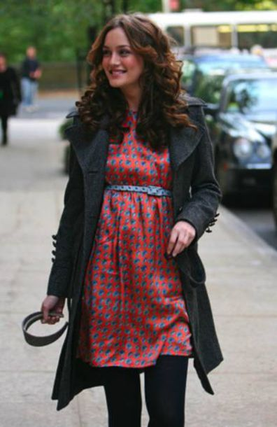 gossip girl blair waldorf leighton meester red dress