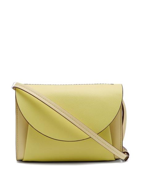 Marni - Law Panelled Leather Belt Bag - Womens - Yellow Multi