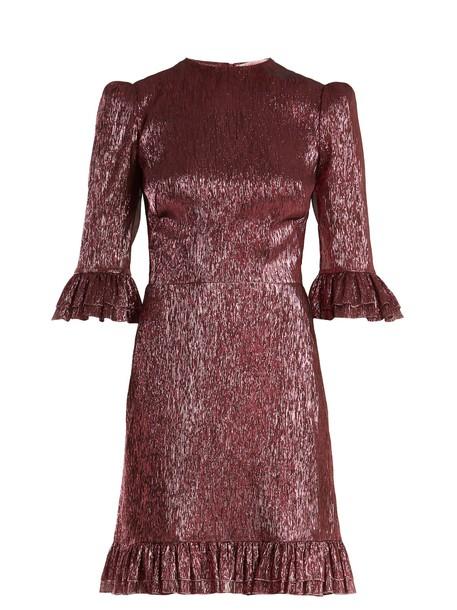 THE VAMPIRE'S WIFE dress ruffle silk pink