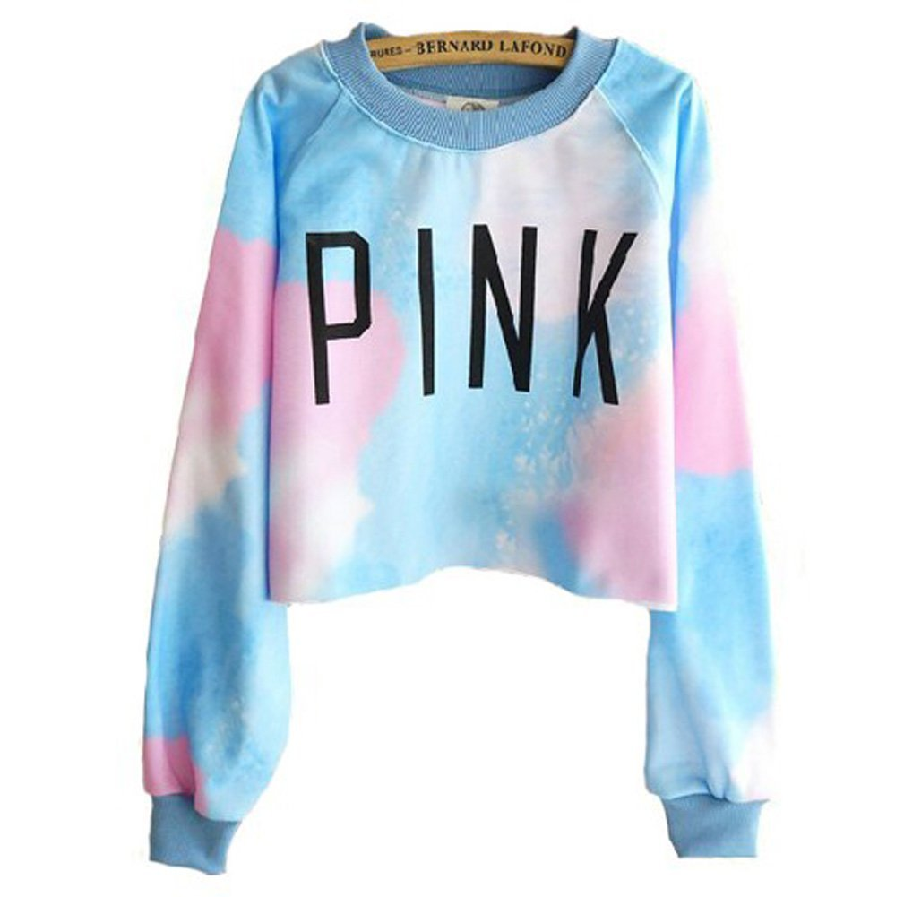 Amazon.com : Harajuku Style Tie-dye Gradient Color Long-sleeved Sweater (blue) : Baby
