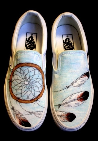 shoes vans blue dreamcatcher