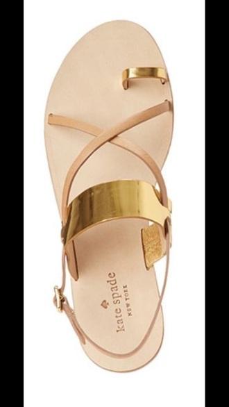 shoes kate spade gold sandals metallic gold sandals cute sandals