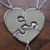 Three Piece Heart, best friend puzzle heart pendant necklaces