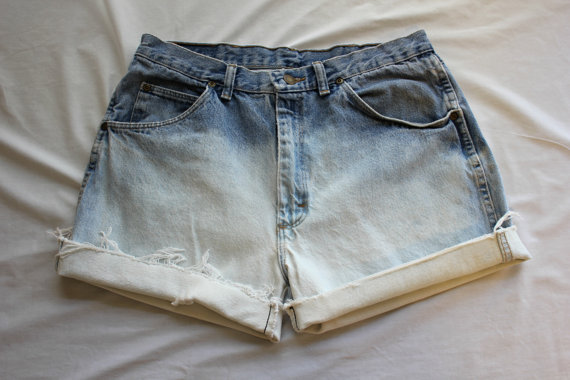 Custom Size / Bleached High Waisted Shorts / Made by RetroFriday