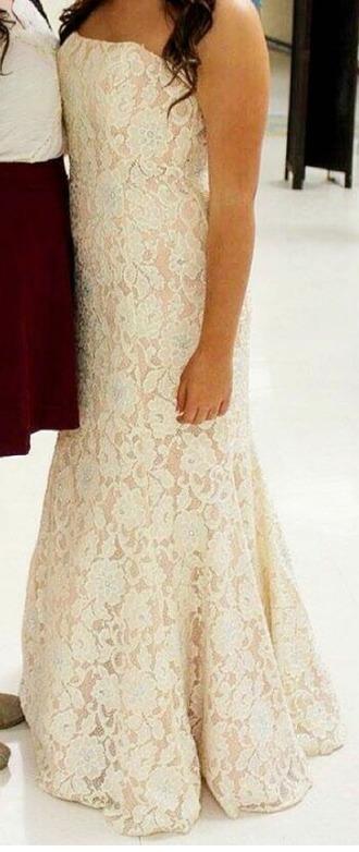 dress ivory prom dress prom lace dress lace prom lace dress lace prom dress white off white prom dress it is off white long dress love