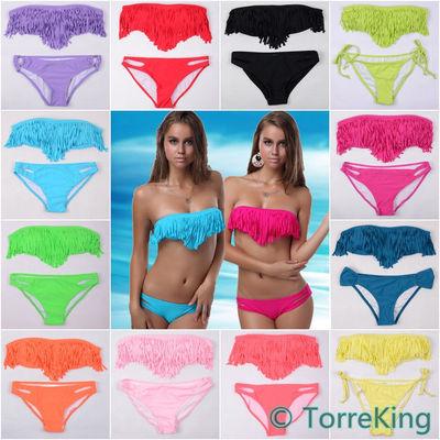 Multicolor fringe bikini · thedarkqueen · online store powered by storenvy