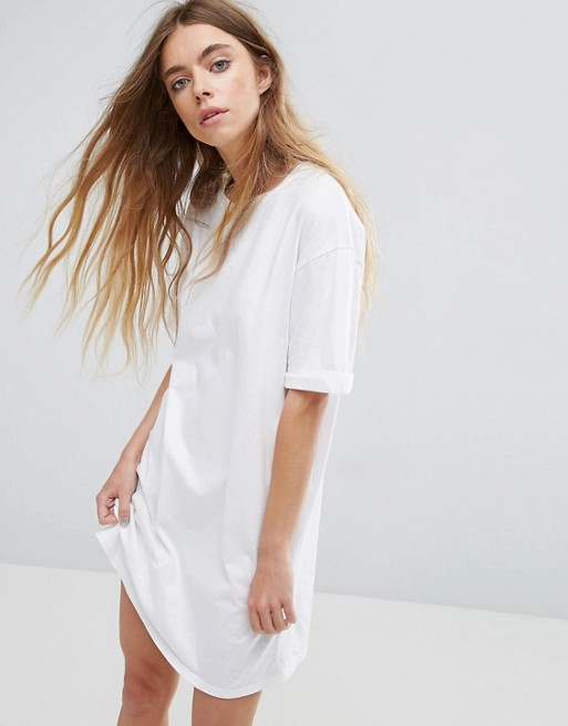 86cc57ab2c3 ASOS Ultimate T-Shirt Dress with Rolled Sleeves at asos.com