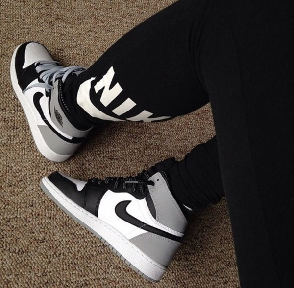 black leggings nike leggings grey sneakers nike nike sneakers nike shoes shoes nike running shoes nike free run sneakers air jordan fashion