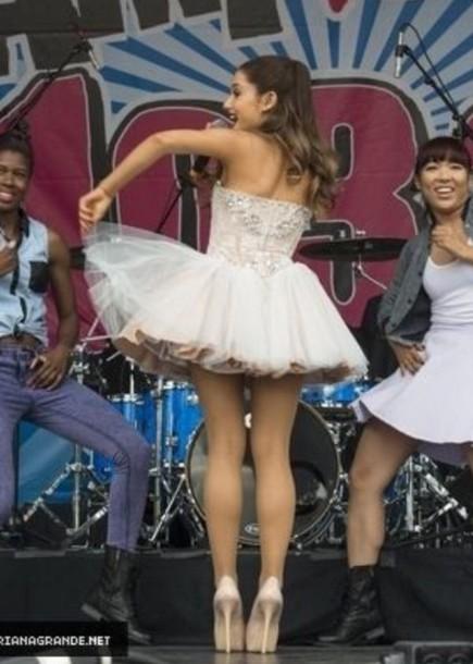 Dress White Cute Heels High Heels Prom Dress White