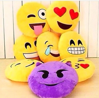 home accessory pillow emoji pillow
