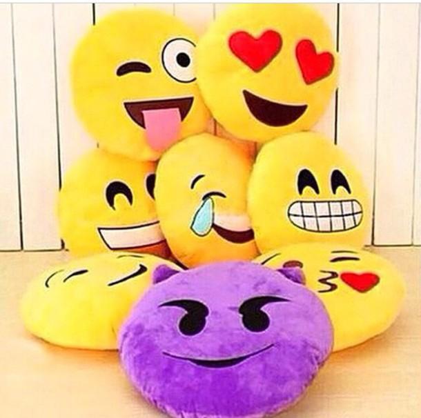 home accessory pillow emoji pillow