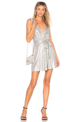 dress metallic silver