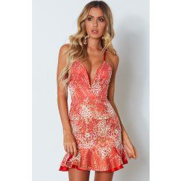 Razzle Dazzle Mini Dress Red