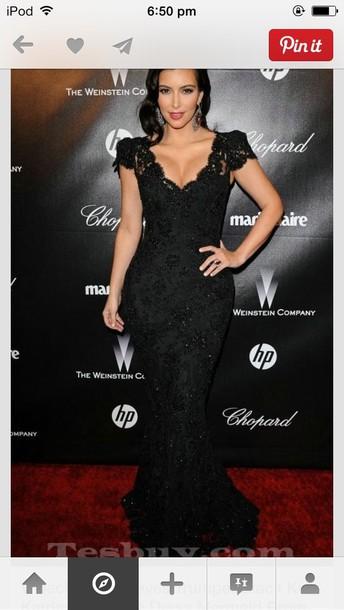 dress mermaid prom dress black lace formal long sparkle kim kardashian mermaid prom dress kim kardashian dress black dress lace dress kim kardashian