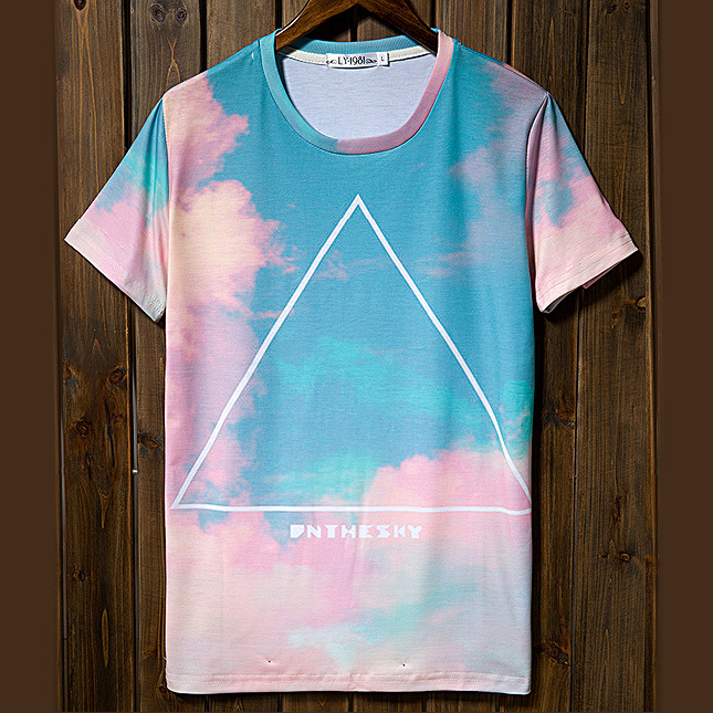 Aliexpress.com : Buy Free shipping 2014 summer new men t shirt printing tops & tees printed harajuku punk retro sky tri angle boys o neck fashion from Reliable top 100 gifts for men suppliers on CHOCO-MEN