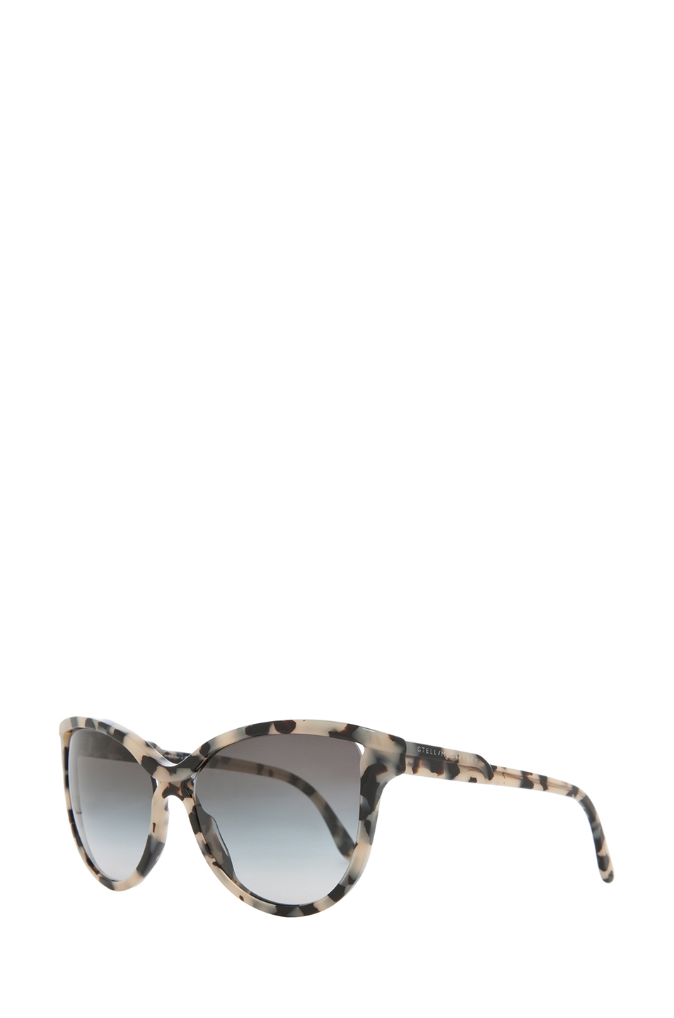 Stella McCartney | Grey Gradient Sunglasses in Grey Spotty Tortoise