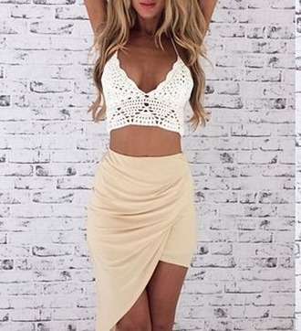 skirt maxi skirt twist skirt twisted skirt midi skirt top crochet crop top crochet boho knit cami crochet cami
