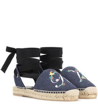 denim espadrilles blue shoes